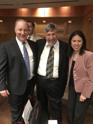 Pauline with 2 men