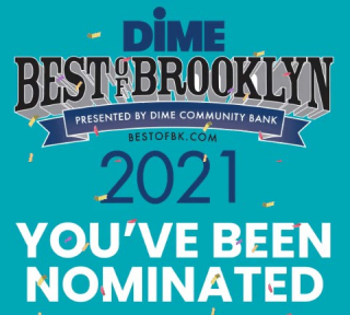 Dime Best of Brooklyn Nomination Badge 2021