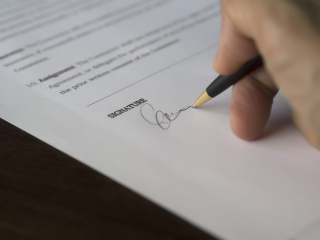 Signing paperwork 2