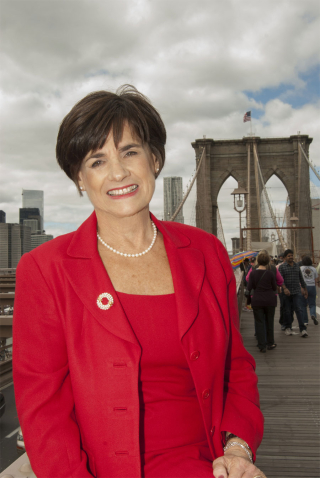 Judie on Brooklyn Bridge 9-2013